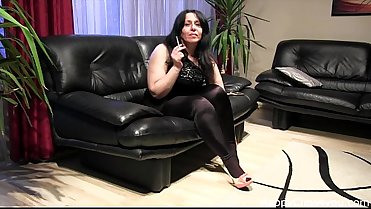 Smoking fetish and foot fetish video