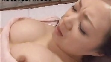 Japanese slim girlfriend gets nailed hard on the kitchen desk while her mommy is out shopping