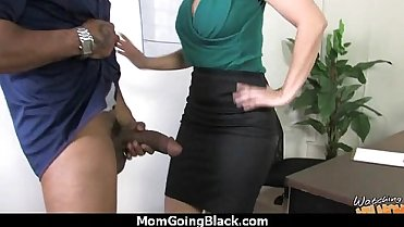 Sexy mom gets a creamy facial after getting pounded by a black dude 2