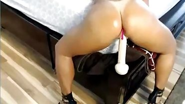 Mom Riding her Favourite Dildo on Bed - JustFuckHer.com