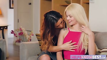 Lesbian babes Elsa Jean and Karlie Montana love eating pussy