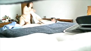 Hidden cam catches mom sucking not hubby cock