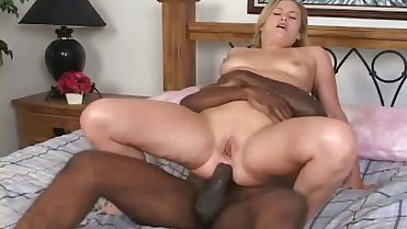 Playful mom and a black lover