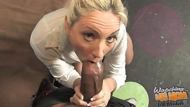 Mature white MOM fucked by Black in front of son