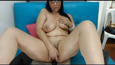 Hot 50 year-old Latina mom rides your dick - POV webcam