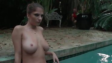 not step son caught spying on step mom in pool