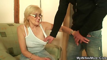 She enjoys fucking her son-in-law