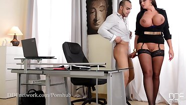 Office Adventures- My Boss is a Cock Sucker Milf