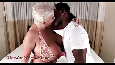Huge Saggy Fake Tits Claudia Marie Interracial Bikini Fuck
