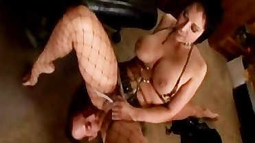 Milf in Fishnet Stockings Banged