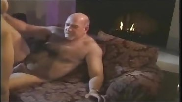 Brunette Big Natural Tits Fucked by Old Chap
