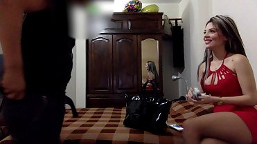 Exactly moment when I pay a scort - hooker (hidden camera)