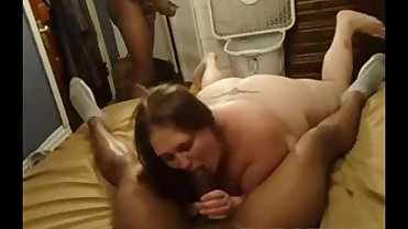 Fat White Slut Fucked Good by Two Black Men