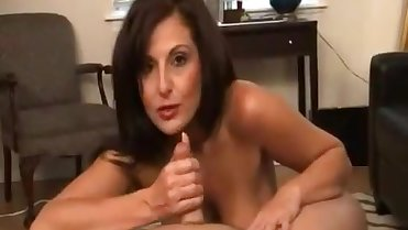 Step Mom sucks sons huge cumshot