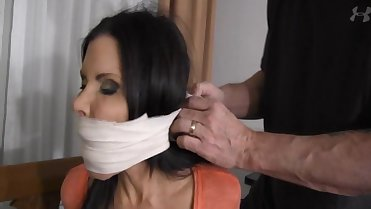 Ashley Renee bound and gagged