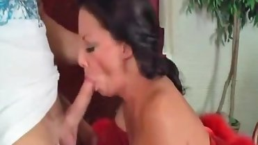 Mother gives step-son Blowjob in return for brushing her hair