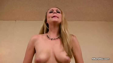 Hot Blonde Cougar gets fucked for the first time