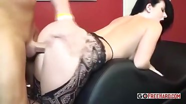 Big boobed babe is getting fucked